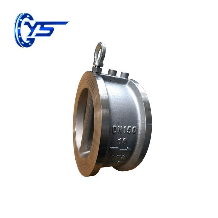 Клапаны обратные двухстворчатые межфланцевые нержавеющие DH77X-10P/16P